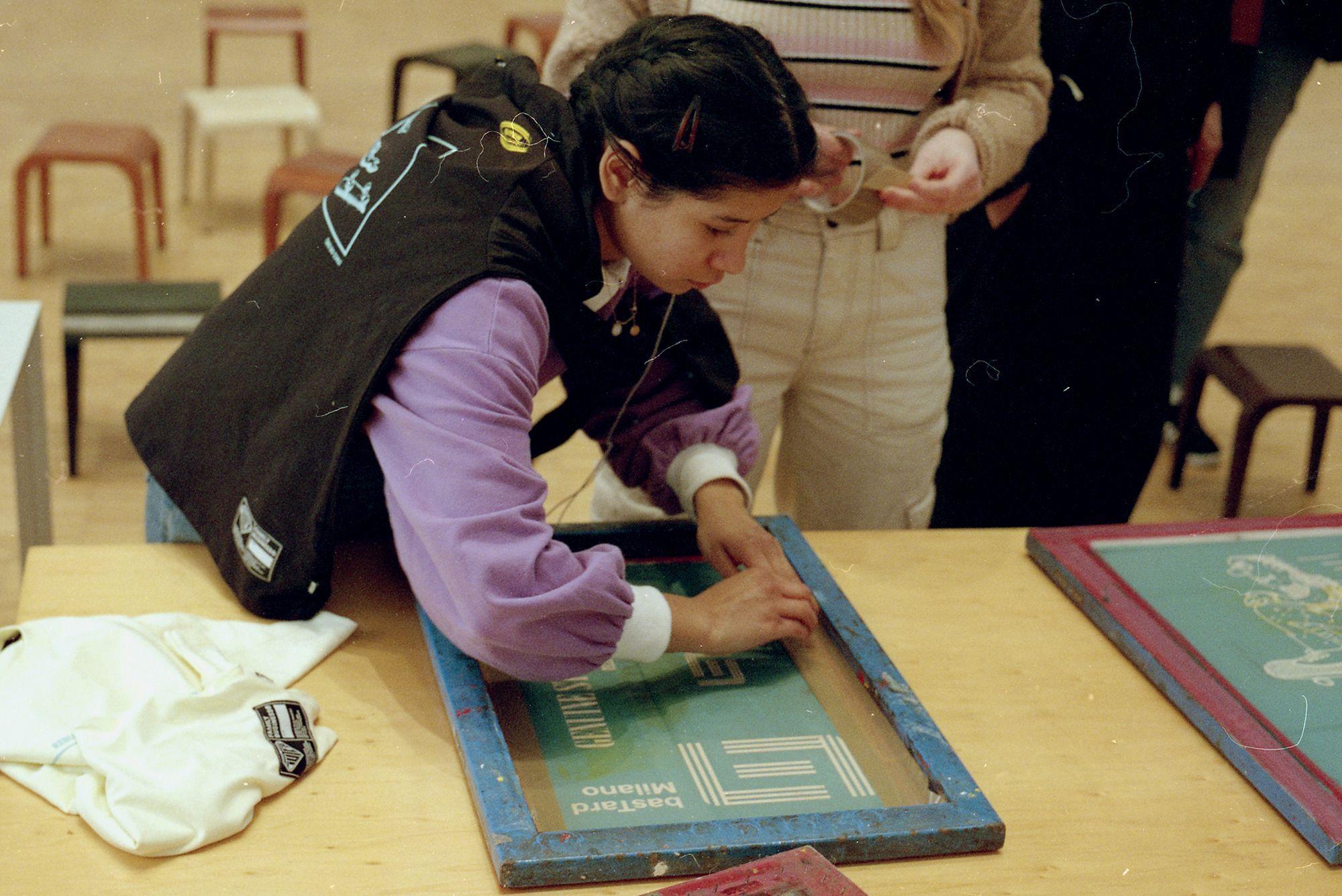IUTER Together silkscreen print workshop at Triennale Milano IUTER workshop at Triennale Milano