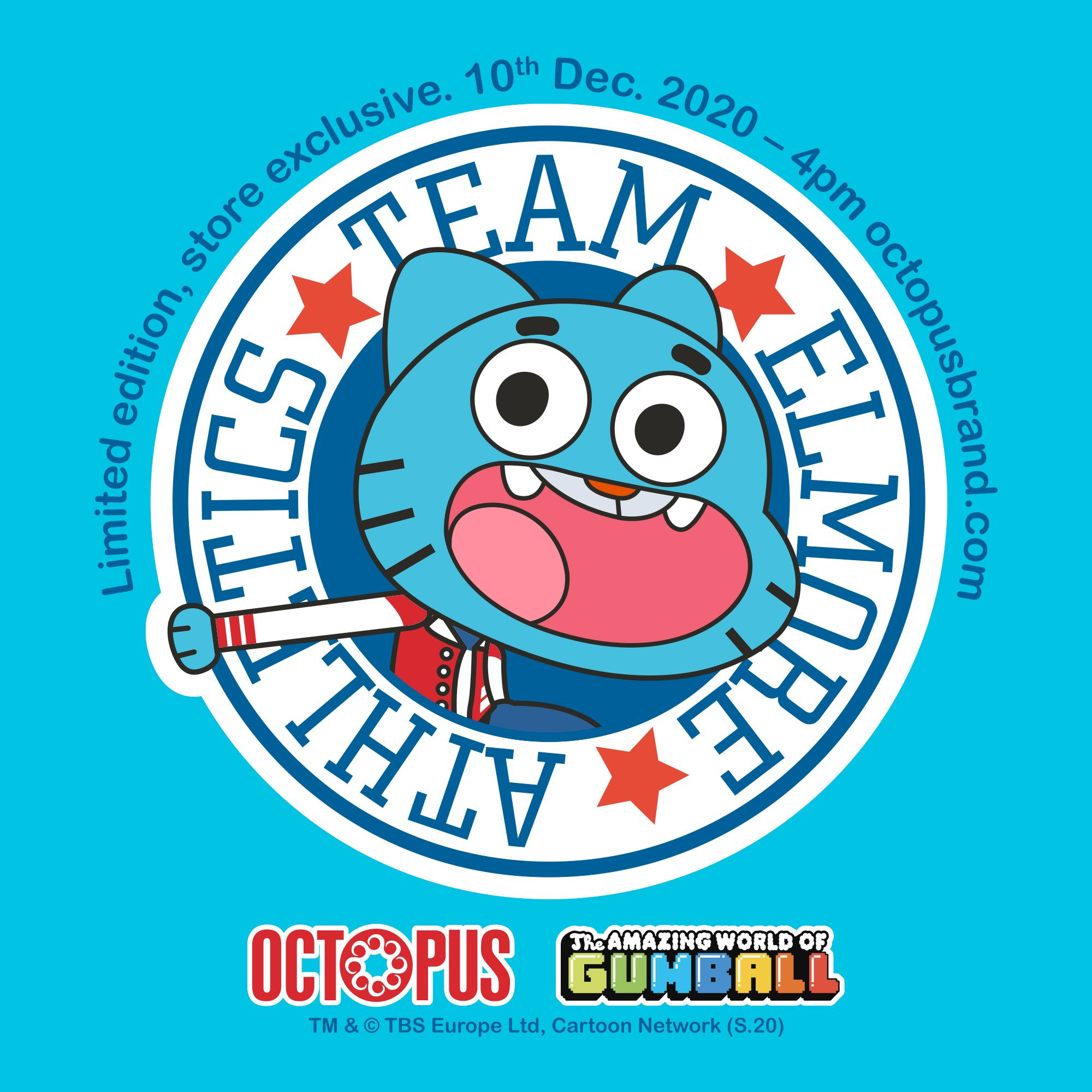 Octopus x The Amazing World of Gumball A collection inspired by the lifestyle of the Amazing World of Gumball